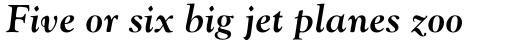 Monotype Goudy Pro Bold Italic sample