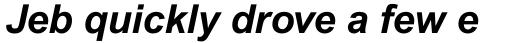 Arial Pro Bold Italic sample
