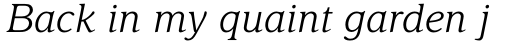 Delima Pro Light Italic sample