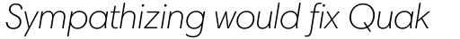 Harmonia Sans Pro Light Italic sample