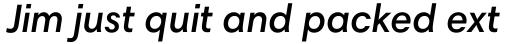 Harmonia Sans Pro Semi Bold Italic sample