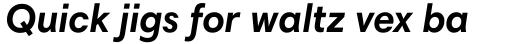 Harmonia Sans Pro Bold Italic sample