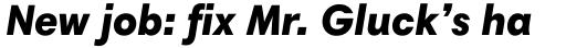 Harmonia Sans Pro Black Italic sample