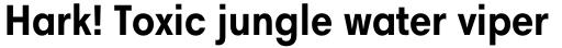 Harmonia Sans Std Condensed Bold sample