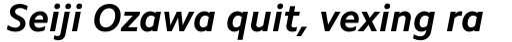 Camphor Std Bold Italic sample