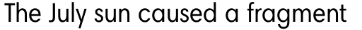 Harmonia Sans Paneuropean Condensed Regular sample