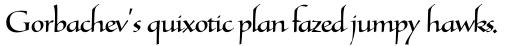 Tresillian Script Light sample