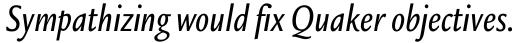 Legacy Sans Condensed Medium Italic sample