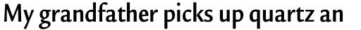 Legacy Sans Condensed Bold sample