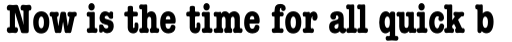 ITC American Typewriter Std Bold Condensed sample