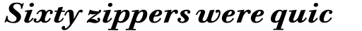 ITC Bodoni Six Std Bold Italic sample