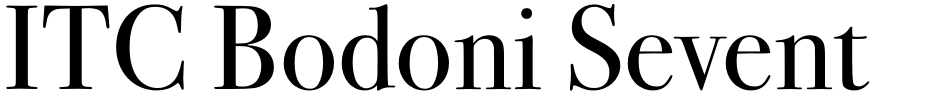 Click to view  ITC Bodoni Seventy-Two Std font, character set and sample text