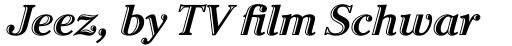 ITC Cheltenham Handtooled Std Bold Italic sample