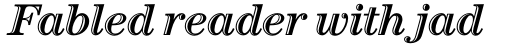 ITC Century Handtooled Std Bold Italic sample