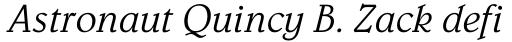 Belwe Std Light Italic sample