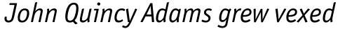 Officina Sans Pro Book Italic sample