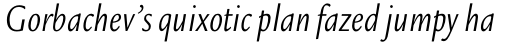 Legacy Sans Pro Condensed Book Italic sample