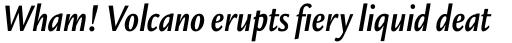 Legacy Sans Pro Condensed Bold Italic sample