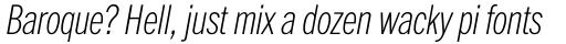 ITC Franklin Pro Condensed Thin Italic sample