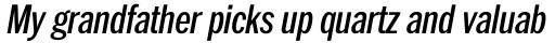 ITC Franklin Pro Condensed Medium Italic sample