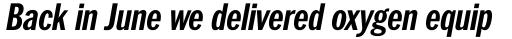 ITC Franklin Pro Condensed Bold Italic sample