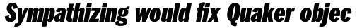 ITC Franklin Pro Condensed Ultra Italic sample