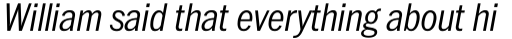 ITC Franklin Pro Narrow Light Italic sample