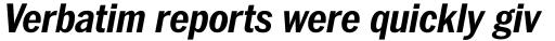 ITC Franklin Pro Narrow Bold Italic sample
