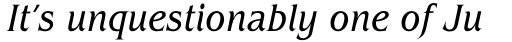 ITC Benguiat Std Condensed Book Italic sample