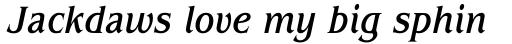 ITC Benguiat Std Condensed Medium Italic sample