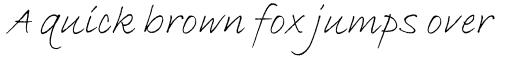 ITC Bradley Hand Std Italic sample