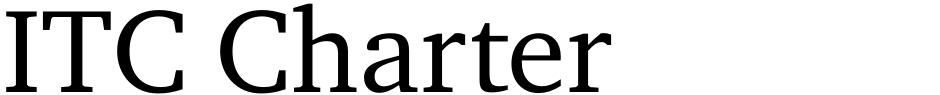 Click to view  ITC Charter font, character set and sample text