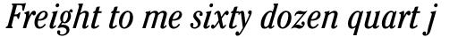 ITC Cheltenham Std Condensed Book Italic sample