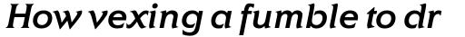 ITC Elan Std Medium Italic sample