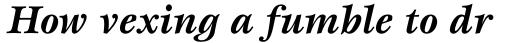 ITC Esprit Std Bold Italic sample