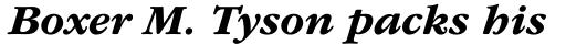 ITC Garamond Std Bold Italic sample