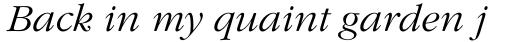 ITC Garamond Std Light Italic sample
