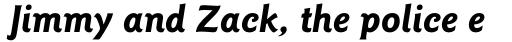 ITC Goudy Sans Pro Bold Italic sample