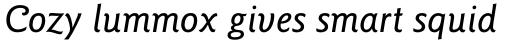 ITC Goudy Sans Pro Medium Italic sample