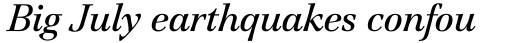 ITC Jamille Std Book Italic sample