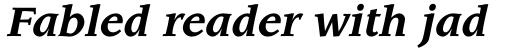 ITC Leawood Std Bold Italic sample