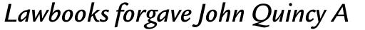 Legacy Sans Pro Medium Italic sample