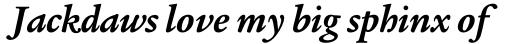 Legacy Serif Std Bold Italic sample