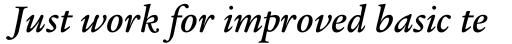 Legacy Serif Pro Medium Italic sample