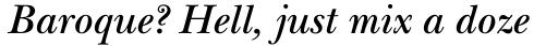 ITC New Baskerville Std SemiBold Italic sample