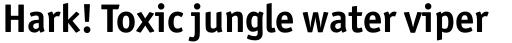 Officina Sans Std Bold sample