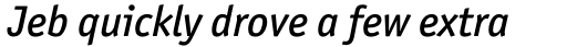 Officina Sans Std Medium Italic sample