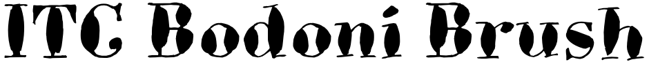 Click to view  ITC Bodoni Brush font, character set and sample text