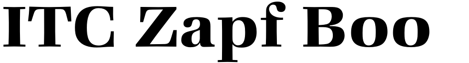 Click to view  ITC Zapf Book font, character set and sample text