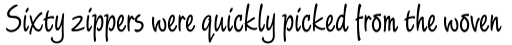 Limehouse Script Std sample